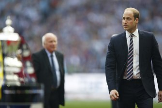 Prince William is the president of the UK's Football Association.