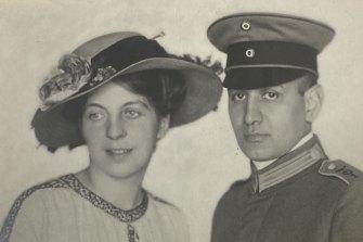 Wilhelm and Helene Perlhoefter in 1916.