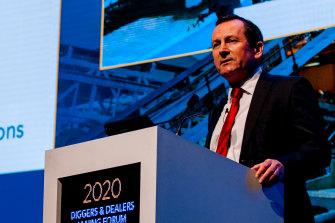 WA Premier Mark McGowan at the 2020 Diggers & Dealers in Kalgoorlie.