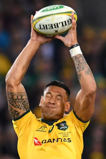 Tall order: Israel Folau's height could prove a huge advantage over Argentina on the Gold Coast.