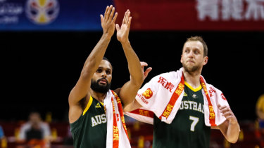 Patty Mills (left) and Joe Ingles were again critical for the undefeated Australians.