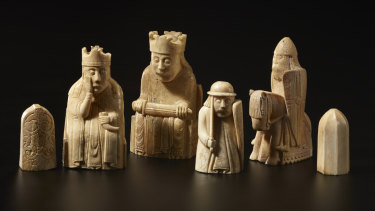 Some of the legendary Lewis Chessmen.