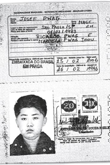 A scan of an authentic Brazilian passport issued to North Korea's leader Kim Jong-un in 1996.