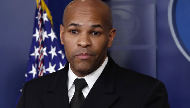 """Our Pearl Harbour, our 9/11"": US Surgeon General Jerome Adams."