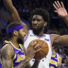 Embiid dominates as new-look 76ers overcome LeBron's Lakers