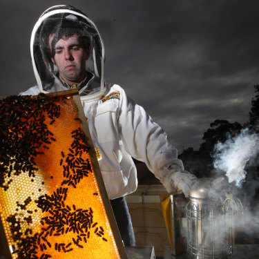 Ben Goldsworthy of Beechworth Honey, which uses only Australian honey.
