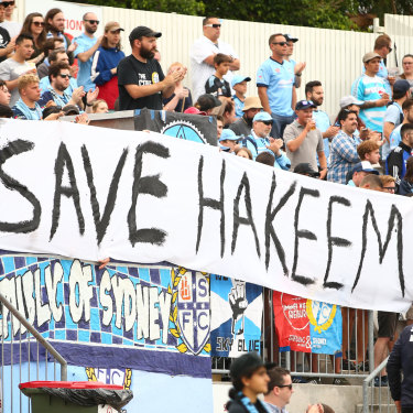 A-League fans show their support.