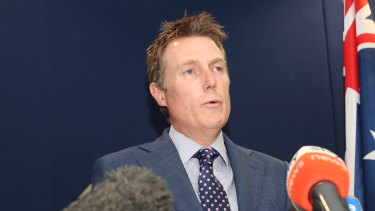 Attorney-General Christian Porter holds a press conference where he strongly denied rape allegations.