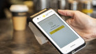 CBA's new payment terminal at cafe Nevaggio in Sydney's CBD.
