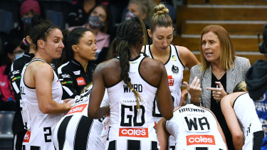 Magpies coach Nicole Richardson who could take the team into the finals.