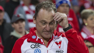 Mind on the job: John Longmire has again distanced himself from links to the coaching job at his old club.