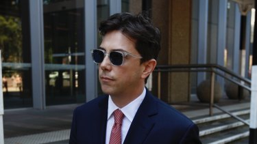 Joe Aston outside the Federal Court on Tuesday.