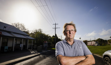 Hawkesdale's John Bos is opposed to plans for a wind farm two kilometres from the town.