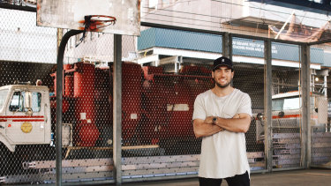 Hoop dreams: Sydney-born Gregory Constantine  has made it into the NBA system, but not in the way you might think.