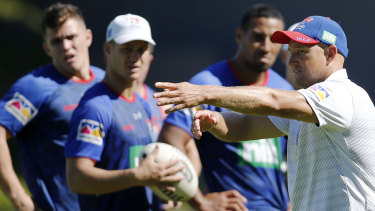 Taskmaster: Knights coach Nathan Brown wants his side's defence to stiffen up in 2019.