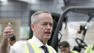 Bill Shorten says Clive Palmer will demand business tax cuts as the price for supporting Scott Morrison if he wins the next election.