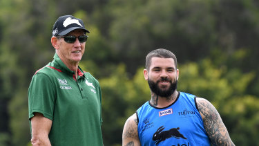 Master and apprentice: Adam Reynolds with new coach Wayne Bennett.