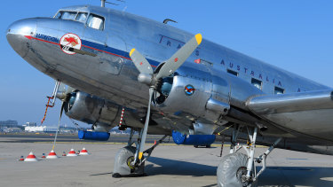 A vintage DC3 aircraft was the backdrop for the occasion.