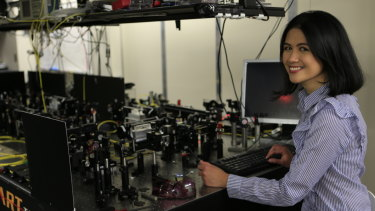Dr Romero in her lab at the University of Queensland.