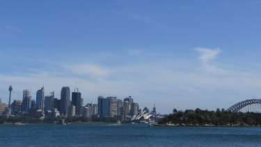 View of Sydney Harbour today, taken from near where Arthur Streeton painted his panorama.