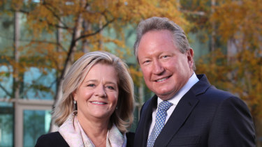 Mining magnate Andrew Forrest and his wife Nicola have donated more than $1.5 billion to charity.