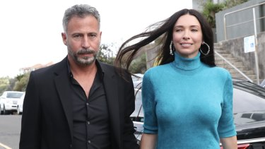 Erica Packer and arist Enrique Martinez Celaya.