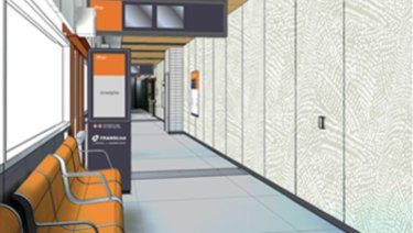 Design images for the Myer Centre bus station refurbishment.