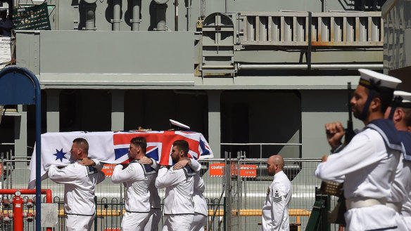 Full military funeral for captain cleared after aircraft carrier was hit by destroyer