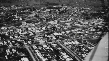 An aerial view of Dandenong in 1959.