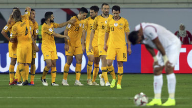 Cruel: Rogic's goal was the second time in as many tournaments that the Socceroos had broken Syrian hearts.