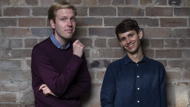 Mark Humphries (left) and Evan Williams are the co-writers behind the ABC's 7.30 satirical sketches.