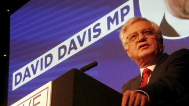 David Davis said the land of Shakespeare had nothing to fear from a 'no-deal' Brexit.