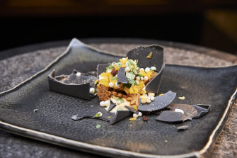 "Chef Peter Gunn's ""black box"" dessert is among the most complex dishes of MasterChef's 2020 season."