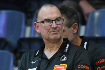 Outgoing Magpies coach Rob Wright.