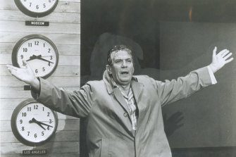 Peter Finch in a still from the film Network.