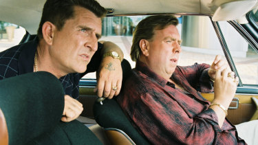 Carter, left, with Timothy Spall in Gettin' Square.