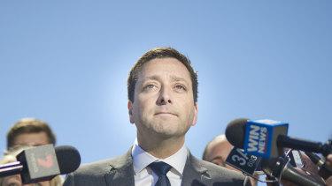 Opposition Leader Matthew Guy  in Ballarat on  Monday
