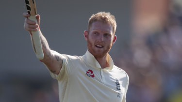Ben Stokes makes his way from the pitch after leading England to an unlikely, historic victory.