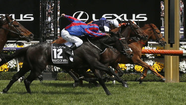 Michael Walker was fined for over-use of the whip on Prince of Arran in last year's Cup.