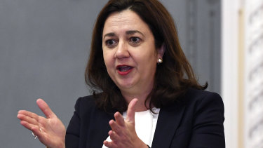 "Annastacia Palaszczuk says her government ""is ready to give young people a real good go with the quality training they need to secure employment""."