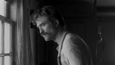 Robert Pattinson plays Ephraim Winslow in Robert Eggers' The Lighthouse, alongside Willem Dafoe.