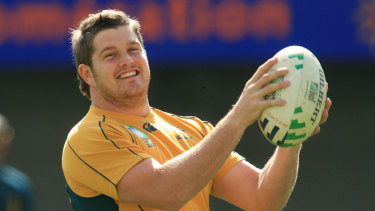 Greg Holmes at the 2007 Rugby World Cup.