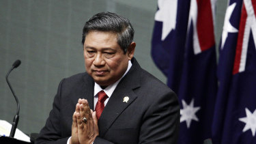 A decade ago: Indonesian President Susilo Bambang Yudhoyono addressing Parliament in in 2010.