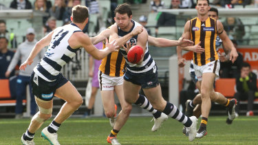 Patrick Dangerfield and the Cats struggled to show their best against the Hawks.