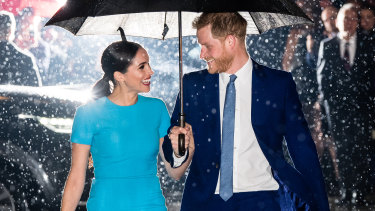 Prince Harry and Meghan attend The Endeavour Fund Awards at Mansion House in London  on March 5.