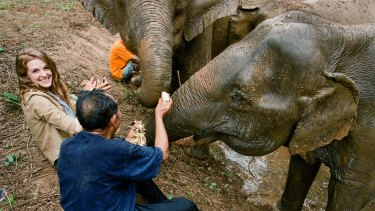Actress Ashley Bell goes to Thailand to witness an elephant rescue.