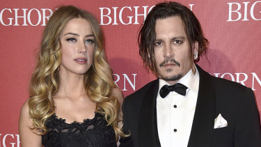 Amber Heard and Johnny Depp in January 2016.