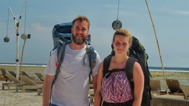 Rhys Wilson and Stephanie Mitchell booked their holiday after the Lombok earthquake.