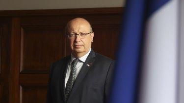 France's ambassador to Australia Jean-Pierre Thebault remains in Paris.