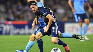 Melbourne Victory star Marco Rojas injured his ankle against Sydney FC.